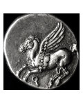 Reverse Side of a Coin Depicting Pegasus, from Corinth, 700-300 BC Reproduction procédé giclée