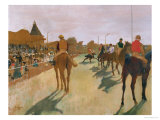 The Parade, or Race Horses in Front of the Stands, circa 1866-68 Lámina giclée por Edgar Degas