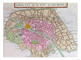 Map of Paris, June 1800 Giclee Print