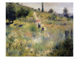 The Path Through the Long Grass, circa 1875 Giclee Print by Pierre-Auguste Renoir