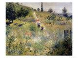 The Path Through the Long Grass, circa 1875 Giclee Print by Pierre-Auguste Renoir