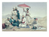 "Umeer Dost Mohammed Khan, from ""Characters and Costumes of Afghuanistan"", Published 1843 Giclee Print by Louis Hague"