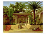 The Khabanija Fountain, Cairo, 1845 Premium Giclee Print by Grigory Tchernezov