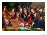 The Musical Society, 1688 Giclee Print by Francois Puget