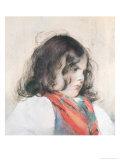 Head of a Child Lámina giclée por Mary Cassatt