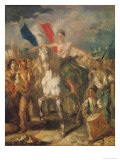 "Study for ""Liberty"", 1830 Giclee Print by Louis Boulanger"