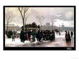 Paris Bus Accident Giclee Print by Alphonse Cornet