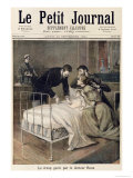 """The Croup Cured by Doctor Roux, Illustration from """"Le Petit Journal"""", 24th September 1894 Premium Giclee Print by Lionel Royer"""