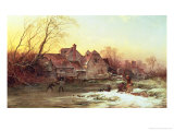 Winter Scene Giclee Print by Philips Wouwermans Or Wouwerman