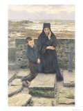 The Widow of the Ile de Sein, 1880 Giclee Print by Emile Renouf