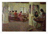 Cigar Makers at Seville Giclee Print by Walter Gay