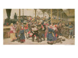 Departing for the War, 1888 Giclee Print by Konstantin Apollonovich Savitsky