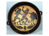 Interior of a Cup Depicting the Hunt for the Boar of Calydon, Laconian, circa 560 BC Giclee Print