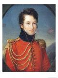 Portrait of Alfred de Vigny Giclee Print by Francois Josephe Kinson