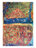 View of Istanbul Giclee Print by Nasuh Al-silahi