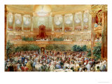 Dinner in the Salle des Spectacles at Versailles, 1854 Giclee Print by Eugene Louis Lami