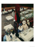 In a Cafe, 1905 Giclee Print by Alfred Henry Maurer