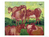 Cows, c.1890 Giclee Print by Vincent van Gogh