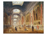 The Grande Galerie of the Louvre Giclee Print by Hubert Robert