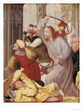Jesus Chasing the Merchants from the Temple Giclee Print by Quentin Metsys