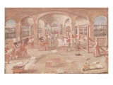 Interior of a Printing Works in the 16th Century Giclee Print