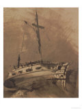 A Ship in Choppy Seas, 1864 Giclee Print by Victor Hugo