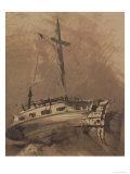A Ship in Choppy Seas, 1864 Giclee Print by Victor Hugo