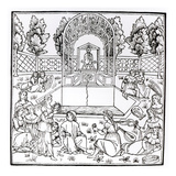 A Garden Scene, from 'Hypnerotomachia Poliphili' Attributed to Francesco Colonna (C.1432-1527) Giclee Print by  Italian