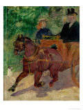 Cob Harnessed to a Cart, 1900 Giclee Print by Henri de Toulouse-Lautrec