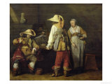 Interior of an Inn, 1636 Lámina giclée por Gerard Terborch