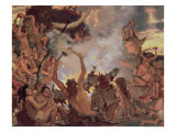 A Stone Age Feast, 1883 Gicl&#233;e-Druck von Victor Mikhailovich Vasnetsov
