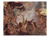 A Stone Age Feast, 1883 Giclée-Druck von Victor Mikhailovich Vasnetsov