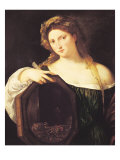 Allegory of Vanity, or Young Woman with a Mirror, circa 1515 Giclee Print by  Titian (Tiziano Vecelli)