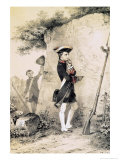 "Napoleon I at Military School in 1783, Illustration from ""L'Empereur et La Garde Imperiale"" Giclee Print by Nicolas Toussaint Charlet"