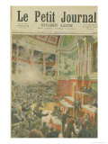 "Dynamite Explodes in the Chamber of Deputies, Front Cover of ""Le Petit Journal"" 23rd December 1893 Reproduction procédé giclée par Frédéric Théodore Lix"