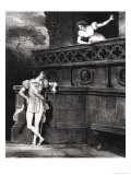 "Scene from Act III of ""Romeo and Juliet"" by William Shakespeare Giclee Print by Achille Deveria"
