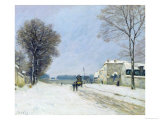 Winter, Snow Effect, 1876 Giclee Print by Alfred Sisley