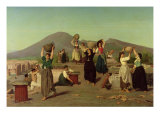 The Excavations at Pompeii, 1865 Giclee Print by Edouard Alexandre Sain