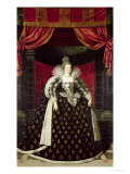 Marie de Medici in Coronation Robes, circa 1610 Giclee Print by Frans Pourbus II