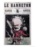 "Caricature of Victor Hugo as Zeus in Exile on Guernsey from the Front Cover Of""Le Hanneton"" Giclee Print by G. Deloyoti"