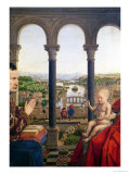 The Rolin Madonna, Detail of the View Between the Columns, circa 1435 Giclee Print by  Jan van Eyck