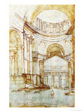 View in New St. Peter's in Rome Reproduction procédé giclée par Giovanni Battista Naldini