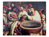 First Baptism of the Indians by the Dominicans Giclee Print