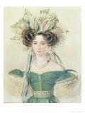 Portrait of Princess Elizabeth Vorontsova, circa 1823 Giclee Print by Pyotr Fyodorovich Sokolov