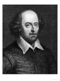Portrait of William Shakespeare 1719 Reproduction proc&#233;d&#233; gicl&#233;e par George Vertue