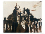 Chateau Fortified by Two Bridges Giclee Print by Victor Hugo