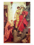 Elijah Restoring the Widow's Son, 1868 Giclee Print by Ford Madox Brown