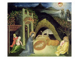 The Nativity Gicle-tryk af Giovanni di Paolo