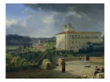 View of the Villa Medici, Rome, 1813 Giclee Print by Nicolas Antoine Taunay