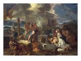 The Sacrifice of Noah, circa 1640 Giclee Print by Sebastien Bourdon